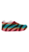Multi-Color Zebra Sneakerskins Stretch Fit 12 Pairs