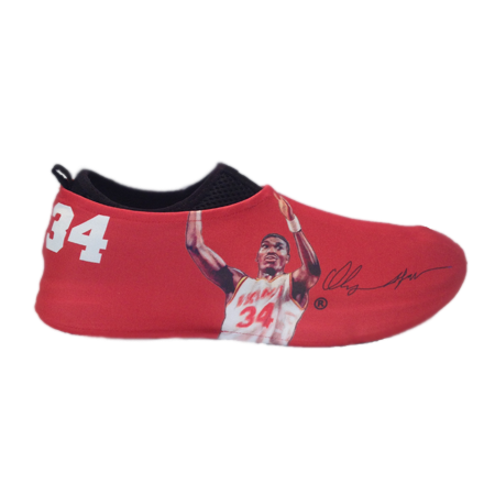 Hakeem Olajuwon Autographed Sneakerskins Stretch Fit 3 Pack