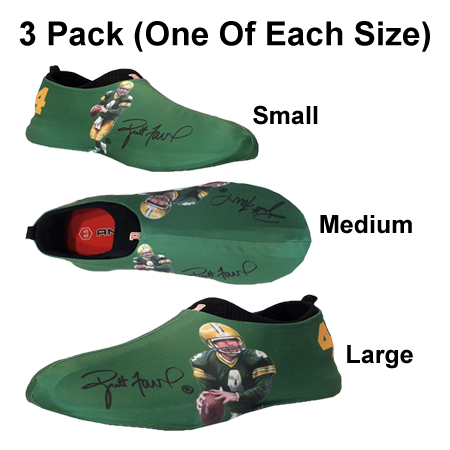 Brett Favre Autographed Sneakerskins Stretch Fit 3 Pack